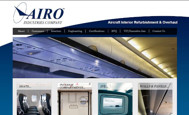 AIRO Industries Website Look and Feel
