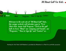 All About Golf Kids Website Design