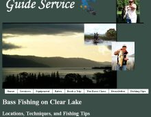 Clear Lake Guide Services Website Design