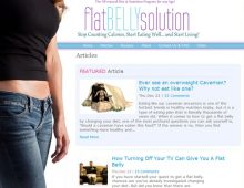 Flat Belly Solution Website Design