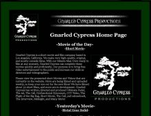 Gnarled Cypress Website Design