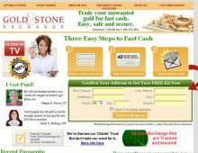 Gold and Stone Exchange Website Design