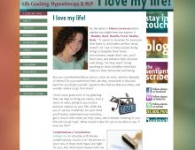 I Love My Life Website Design