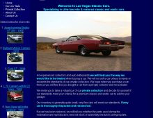 Las Vegas Classic Cars Website Design