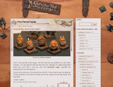 Mordheim Website Design