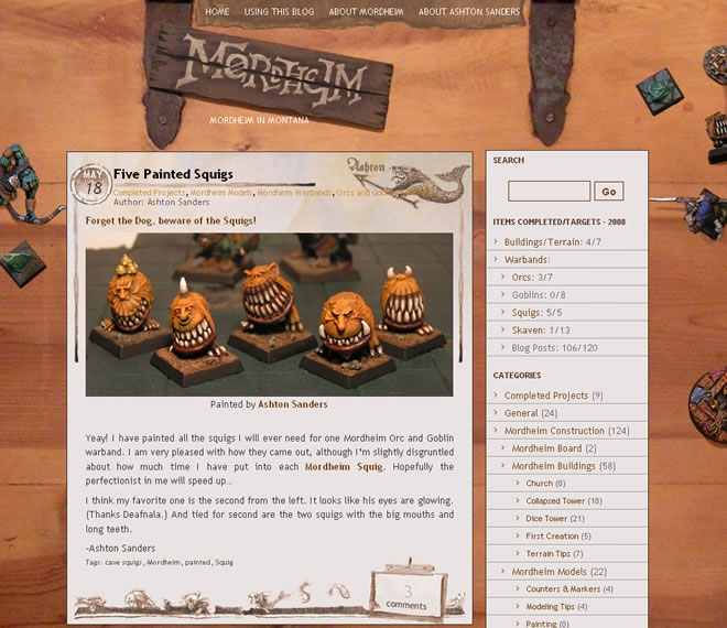 Mordheim Website Look and Feel