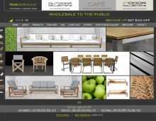 Teak Warehouse Website Design