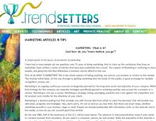 Trend Setters Website Design