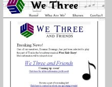 We3 Barbershop Trio Website Design