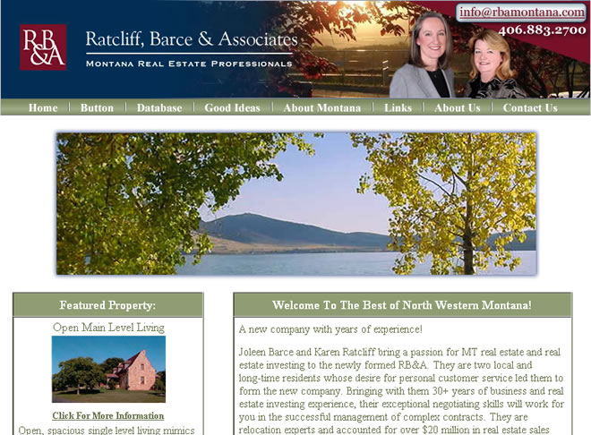 Ratcliff Barce and Associates Website Look and Feel