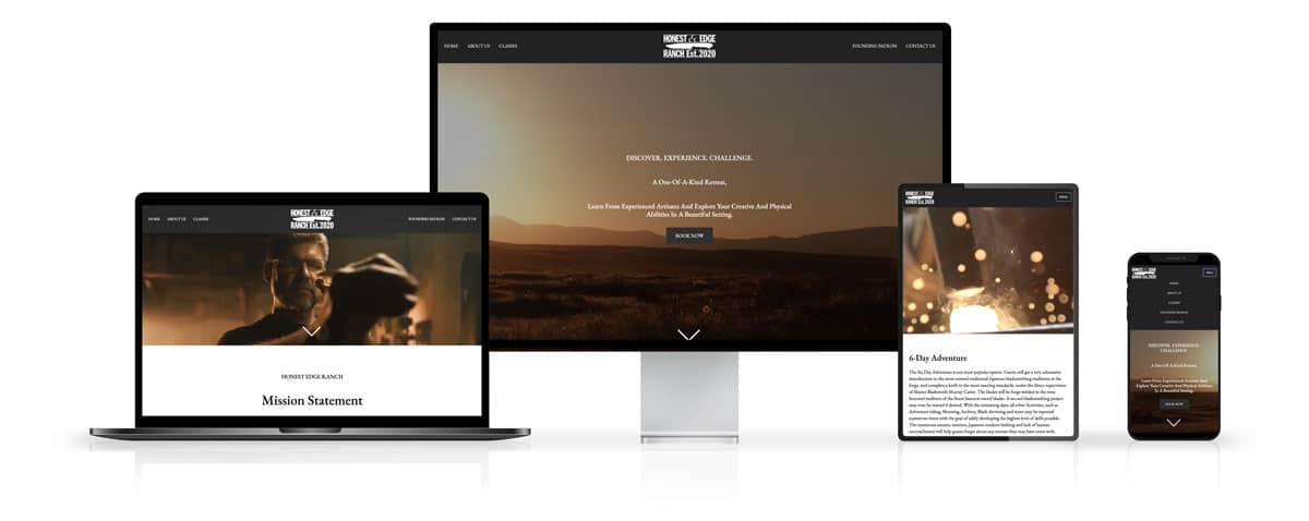 Honest Edge Ranch Website Design on Desktop and Mobile