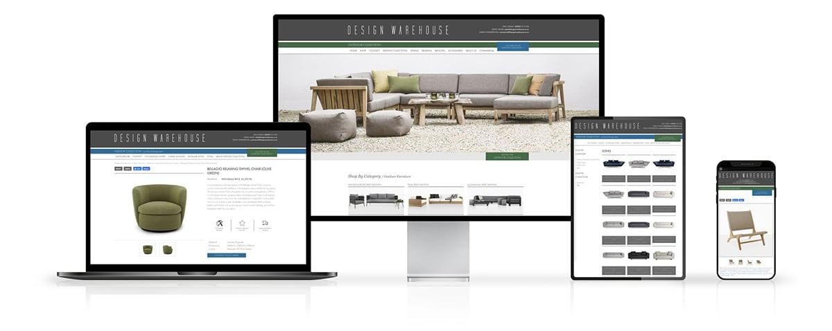 Design Warehouse Website Design on Desktop and Mobile