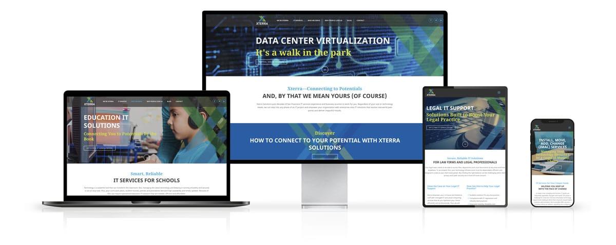 Xterra Solutions Website Design on Desktop and Mobile